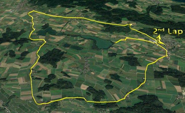 Radstrecke für Olympischen Triathlon